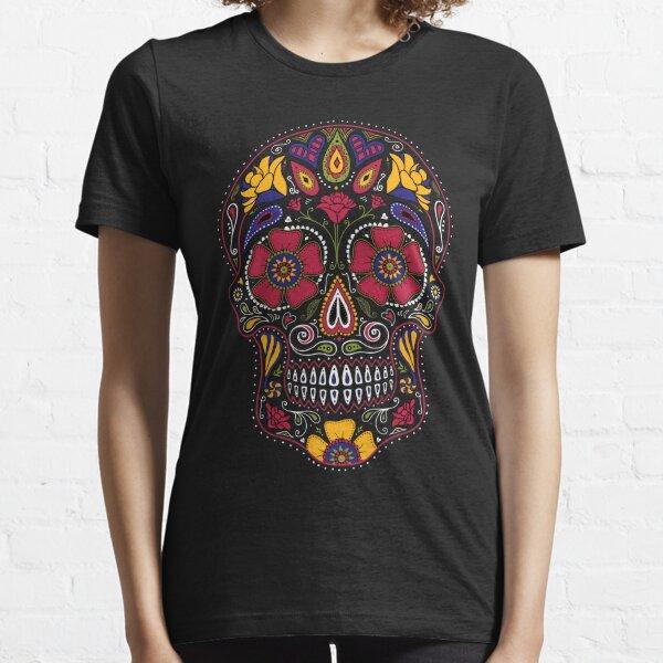 Day of the Dead Sugar Skull Dark Essential T-Shirt