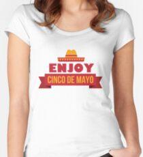 Enjoy Cinco de Mayo T Shirt Women's Fitted Scoop T-Shirt