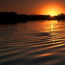 Sunset over Hastings River by Steve Randall