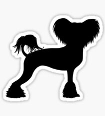 Chinese Crested Silhouette(s) Sticker