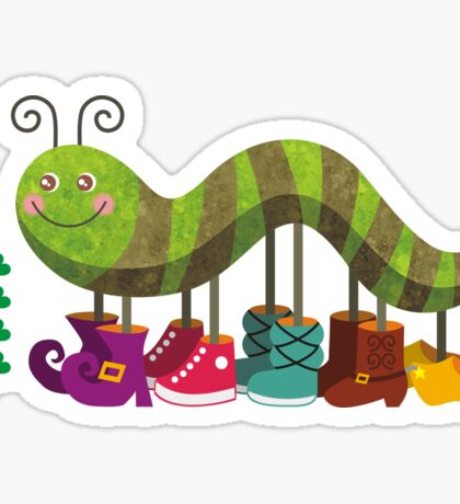 Caty Caterpillar Sticker
