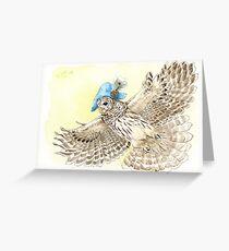 Strange Barred Owl Greeting Card