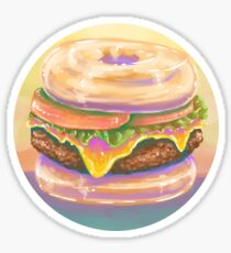 The Donut Burger Sticker