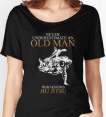 Never Underestimate An Old Man Jiu Jitsu T-shirts Women's Relaxed Fit T-Shirt