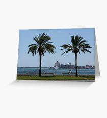Palma de Mallorca harbor Greeting Card