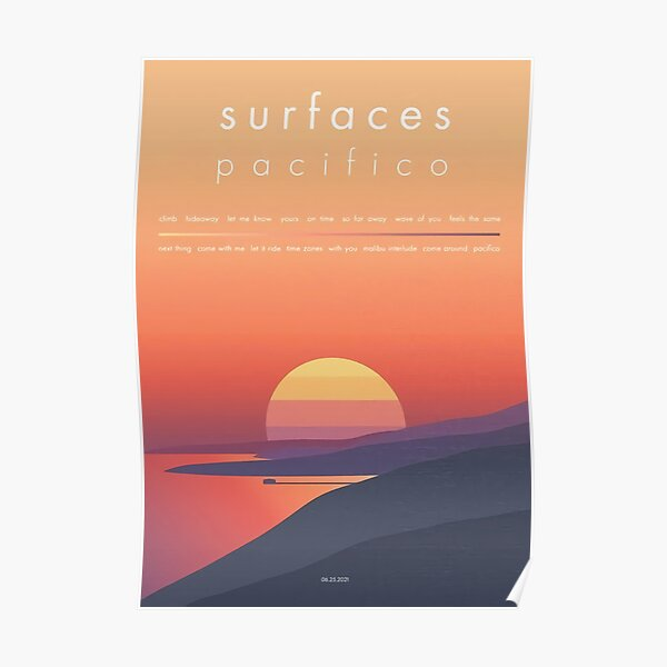 Surfaces Pacifico (2021) Band Album Cover Poster