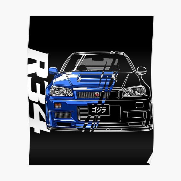 Camiseta Nissan Skyline Gtr R34Nissan Skyline GTR R34 Póster