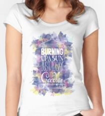 Burning Up A Sun Just To Say Goodbye Women's Fitted Scoop T-Shirt
