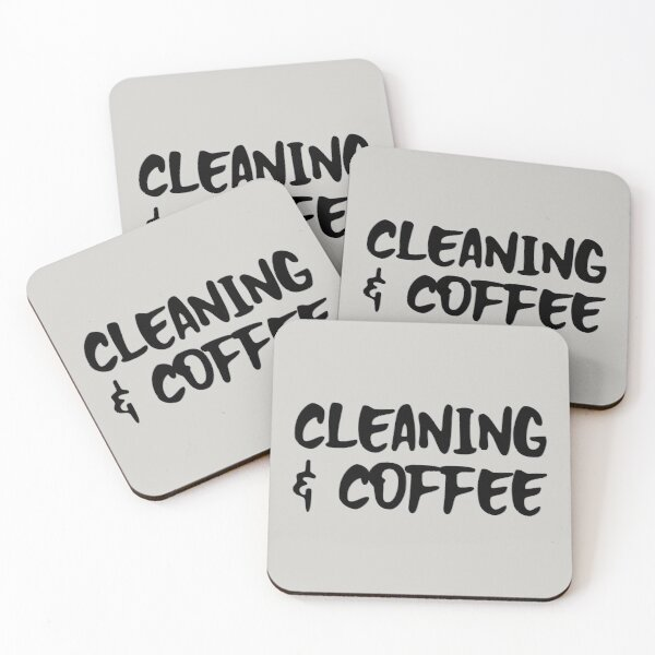 Cleaning and coffee Coasters (Set of 4)
