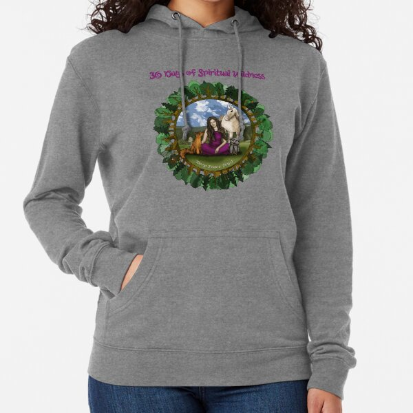 30 Days of Spiritual Wildness - With Course Name Lightweight Hoodie