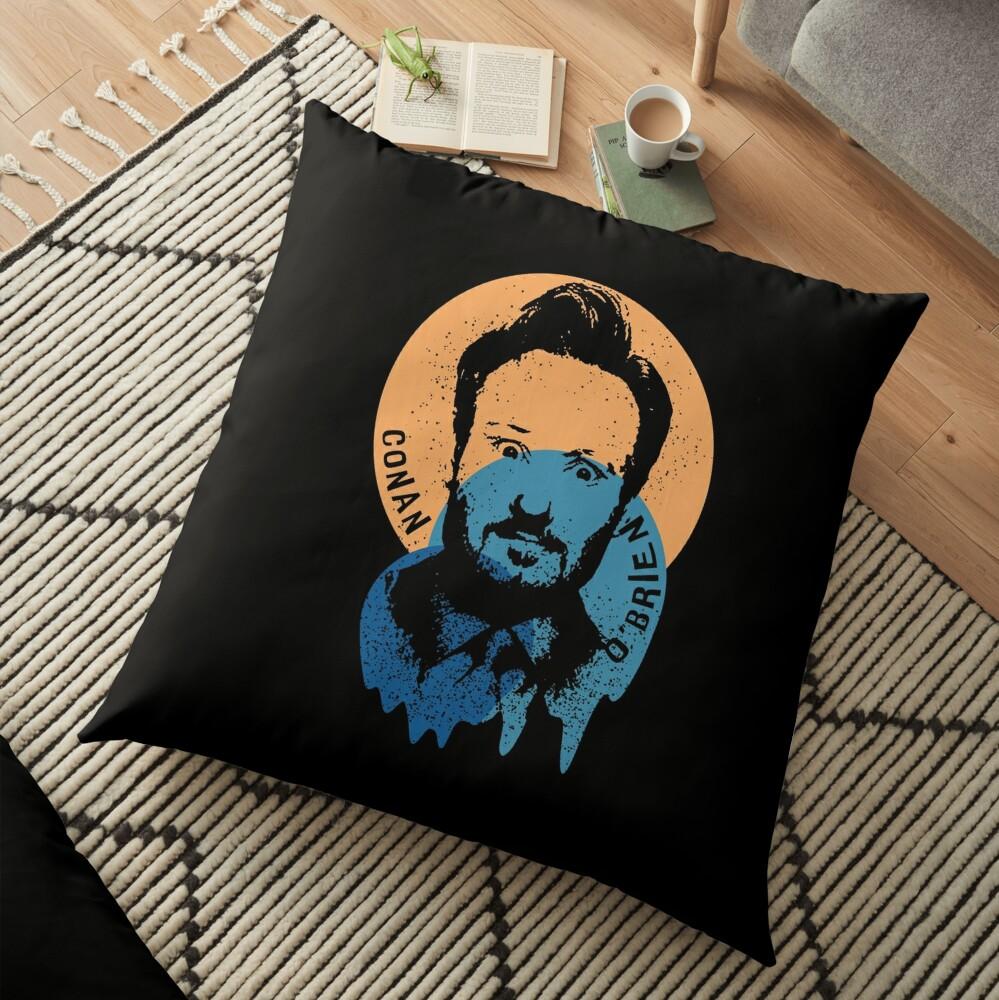 Conan O'Brien Portrait Melted Sprinkle Floor Pillow