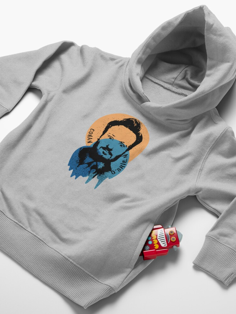 Alternate view of Conan O'Brien Portrait Melted Sprinkle Toddler Pullover Hoodie