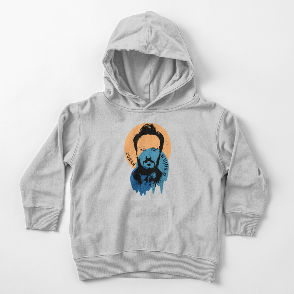 Conan O'Brien Portrait Melted Sprinkle Toddler Pullover Hoodie
