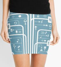 Music a line Mini Skirt