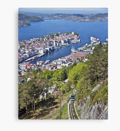 Bergen - Looking Down  Canvas Print