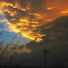 Stormy Kansas Sunset by stormypleasures