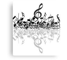 music notes  Metal Print