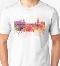 Bristol skyline in watercolor background Unisex T-Shirt