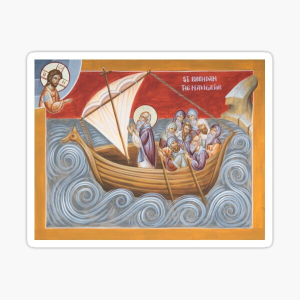 St Brendan the Navigator Sticker