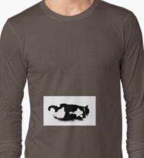 Napping Tuxedo Cat Long Sleeve T-Shirt