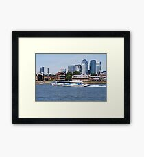 Thames Clippers at Thames Greenwich London Framed Print