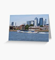 Thames Clippers at Thames Greenwich London Greeting Card