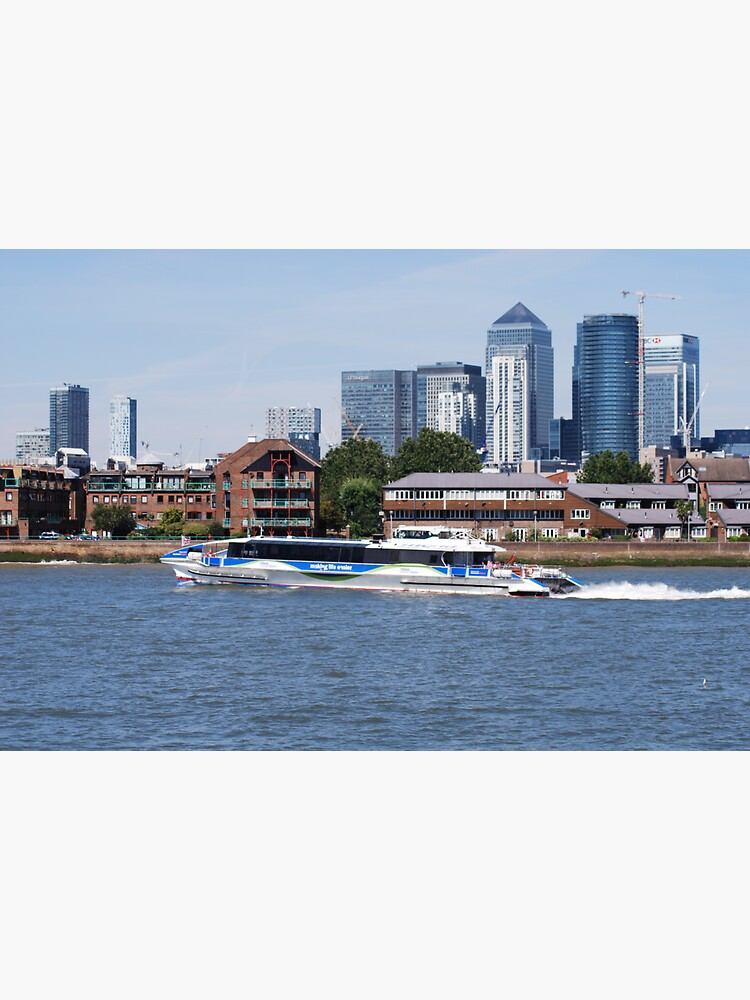 Thames Clippers at Thames Greenwich London by santoshputhran