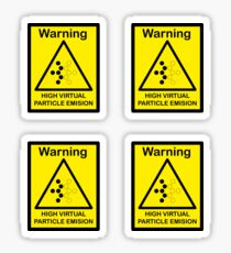 SCP Warning - Virtual Particle Sticker