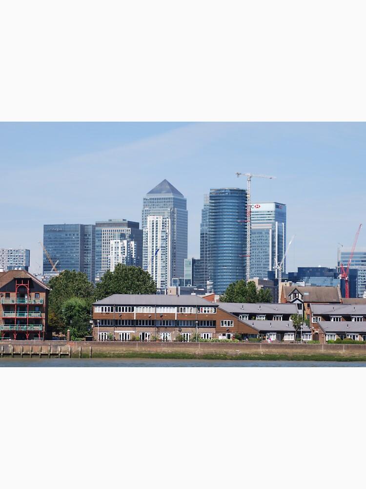Canary Wharf Skyline - view from Greenwich by santoshputhran