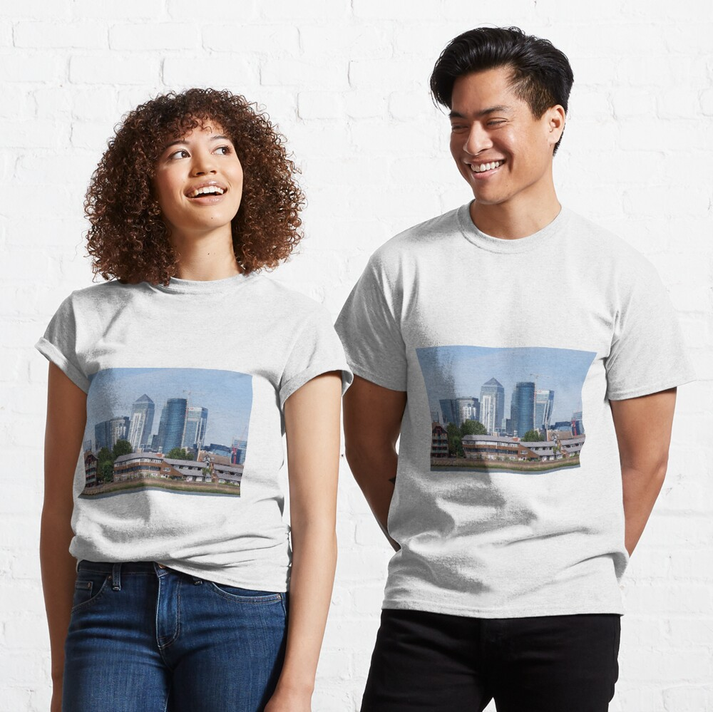 Canary Wharf Skyline - view from Greenwich Classic T-Shirt