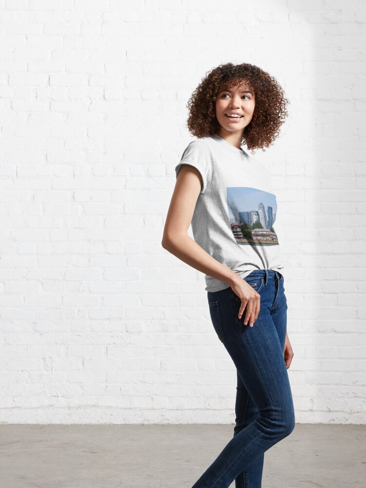 Alternate view of Canary Wharf Skyline - view from Greenwich Classic T-Shirt