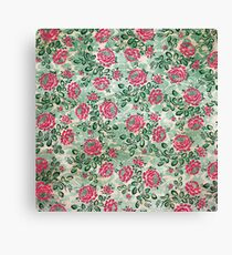 Retro French Floral Pattern Canvas Print