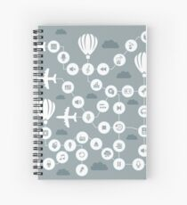 Music the sky Spiral Notebook