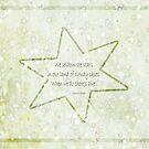 Star haiku on golden clouds by PoemsProseArt