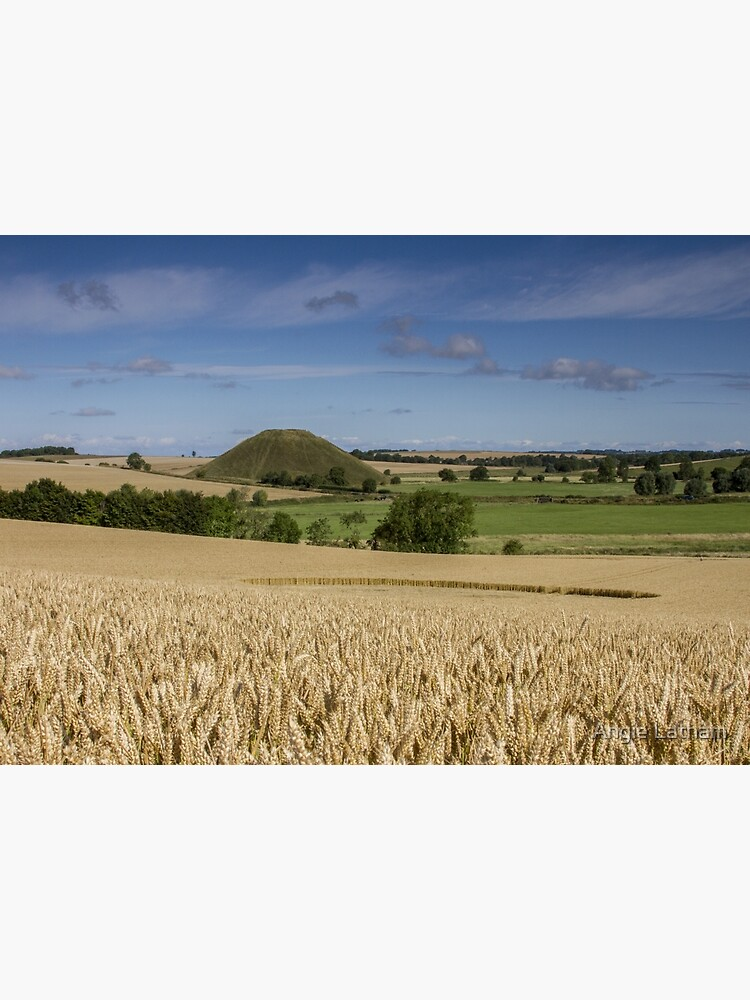 Silbury Hill and crop circle by AngelaBarnett