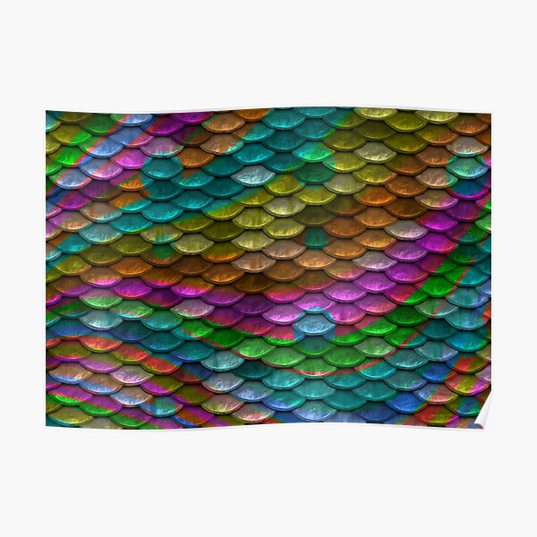 Colored Scales Design Poster