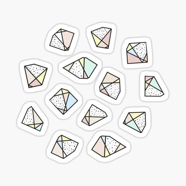 Polygonal stones and gemstones Sticker