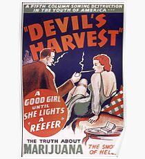 Marijuana The Devil's Harvest Poster