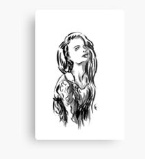 Brush Pose Metal Print
