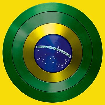CAPTAIN BRAZIL - Captain America inspired Brazilian shield by infrablue