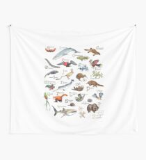 A to Z of Amazing Animals Wall Tapestry