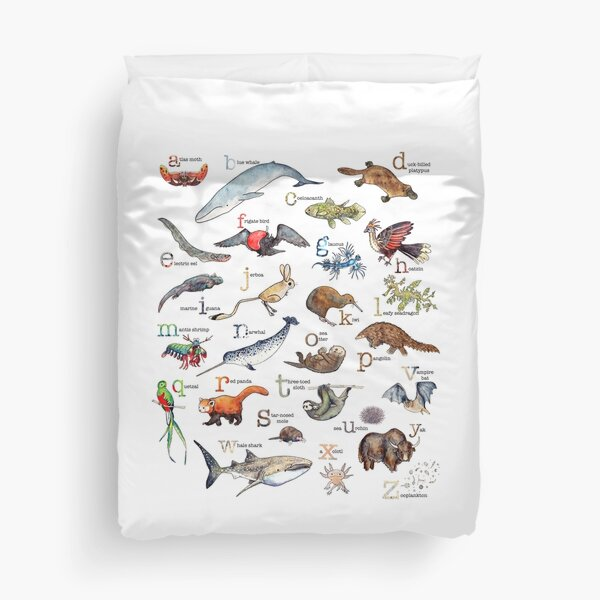 A to Z of Amazing Animals Duvet Cover