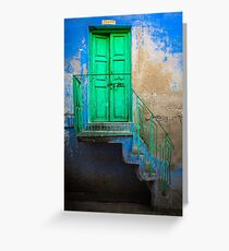 Blue and Green Greeting Card