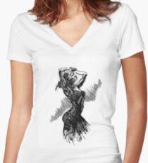 """""""Dancer"""" Women's Fitted V-Neck T-Shirt"""
