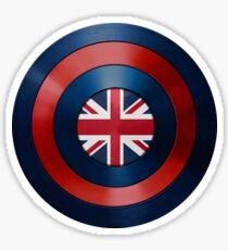 CAPTAIN BRITAIN - Captain America inspired British shield Sticker