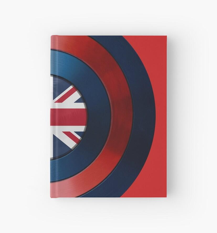 CAPTAIN BRITAIN - Captain America inspirierte britischen Schild von infrablue