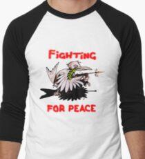 Fighting For Peace (3) Men's Baseball ¾ T-Shirt