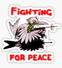 Fighting For Peace (3) Sticker