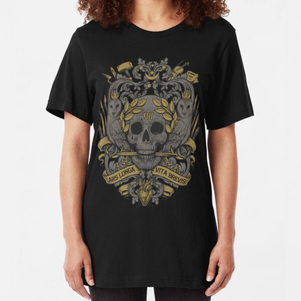 ARS LONGA, VITA BREVIS Slim Fit T-Shirt