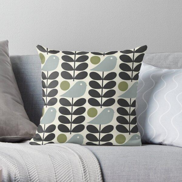 orla kiely - multi  stem, bird design Throw Pillow